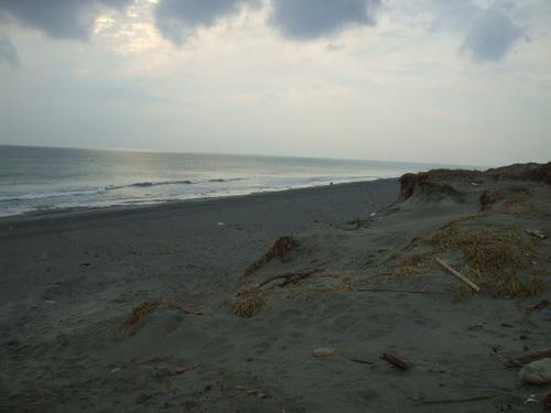 台風18号:大東千浜砂丘